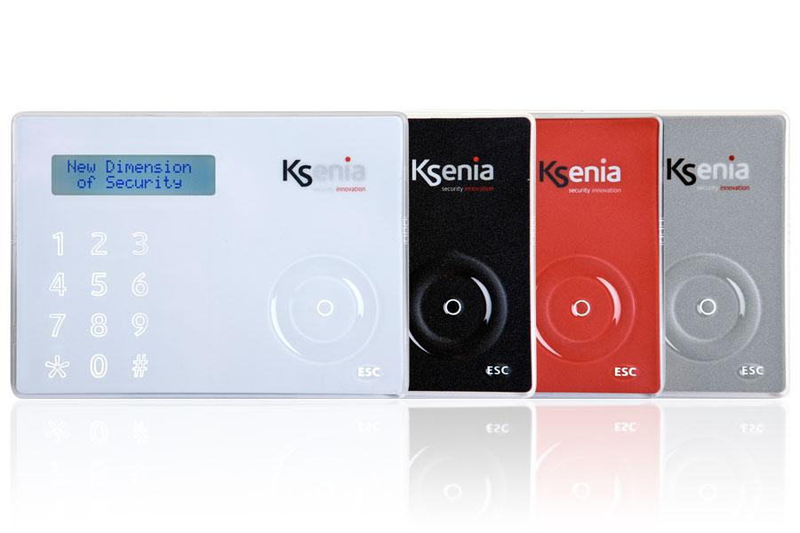 clavier ergo ksenia security plusieurs couleurs blanc noir rouge gris